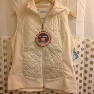 NEW Columbia Warmer Days Hooded Vest M NWT